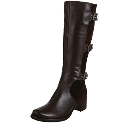 Ecco Esmeraldas Womens SZ 5 Brown Coffee/Coffee Boots Knee Shoes
