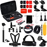 Luxebell Outdoor Sports Camera Accessories Kit for Gopro Hero 6 5 Session 4 3 2 Sjcam DBPOWER AKASO Apeman Xiaomi Yi (Color: 30-in-1)