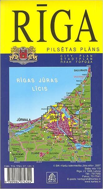 Riga (Latvia) 1:20,000 Street Map JANASETA written by Jana Seta