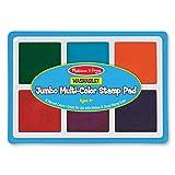Melissa & Doug Jumbo Multi-Colored Stamp Pad With 6 Washable Inks