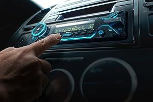 Volunteer Audio Sony MEX-N5200BT Car Stereo Single Din Radio with Bluetooth, CD Player, USB/AUX (Color: black, Tamaño: 1)