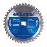 Evolution Power Tools 185BLADEST Steel Cutting Saw Blade, 7-1/4-Inch x 40-Tooth (Color: Blue, Tamaño: 7-1/4 Inch)