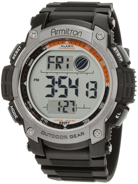 armitron 40 8252blk black digital chronograph sport