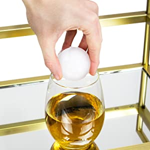 4 Slot Ice Sphere Mold with Lid - 2 Black Silicone Whiskey Round Ice Ball Maker by Cocktailor