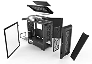 Phanteks Eclipse P600S Hybrid Silent and Performance ATX Chassis - Tempered Glass, Fabric Filter, Dual System Support, Massive Storage, PWM hub, Sound dampening Panels, Black (Color: Black)