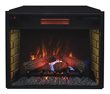 ClassicFlame 28II300GRA Infrared SpectraFire Plus Insert with Safer Plug, 28-Inch