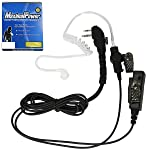 MaximalPower Clear Coil Tube Earbud Headset PTT Mic w/Kevlar HYTERA 2-Pin Plug with Screw (Color: 1 Pack)
