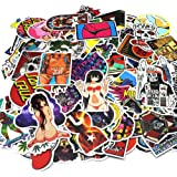 Nuoxinus Laptop Stickers 200pcs Waterproof Graffiti Vinyl Stickers, Cool Car Stickers Motorcycle Bicycle Luggage Decal Graffiti Patches Skateboard Stickers - Not Repeat Random Sticker Pack (Color: Colour 200, Tamaño: C-200)