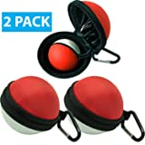 Red or Blue Carrying Case for Nintendo Poke Ball Plus Switch Controller, Accessory for Pokémon Lets Go Pikachu Eevee Game for Nintendo Switch (Two-Red) (Color: Two-Red, Tamaño: 1)