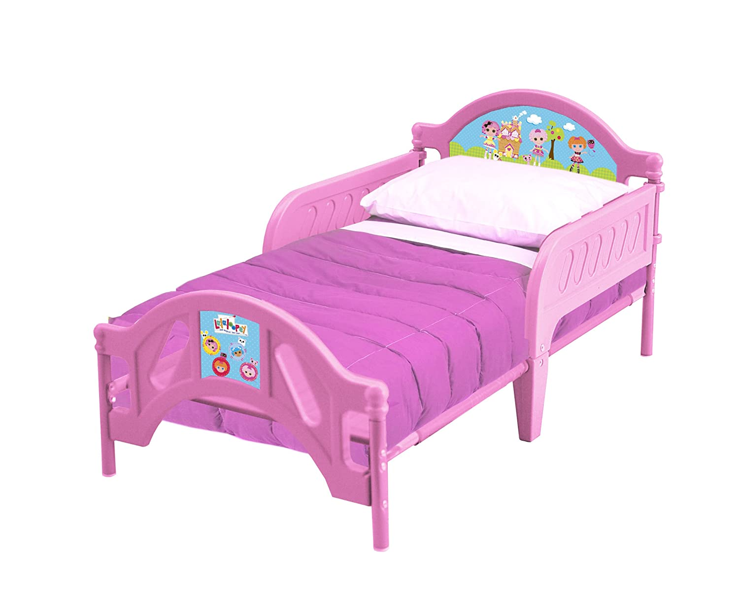 Pink Lalaloopsy Plastic Toddler Bed With Plastic And Metal ...