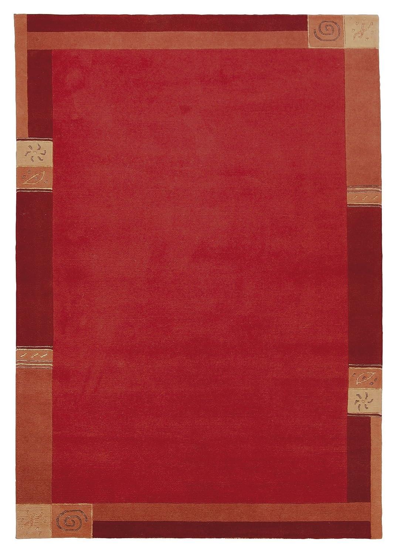"""TEPPICHWELT SONA-LUX Nepal Teppich handgeknüpft rot """"Größe auswählen"""" 170 x 240 cm"""