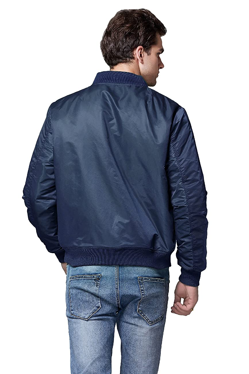 Neo-wows Men's Bomber Flight Jacket Thick 1