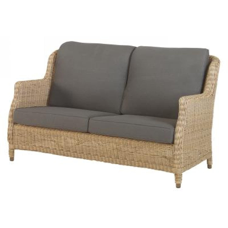 4Seasons Outdoor Brighton 2.5-Sitzer Sofa Polyrattan Pure