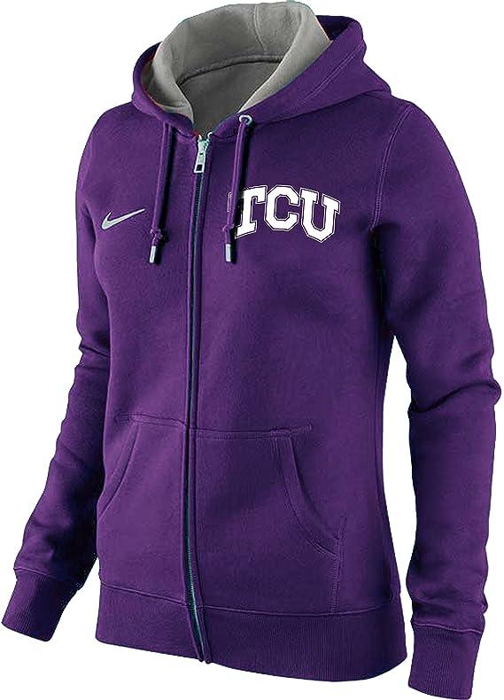 Nike WOMENS TCU Texas Christian University Horned Frogs NCAA Full Zip Hoodie
