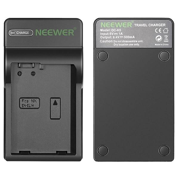 NEEWER SLIM FAST MICRO USB CARGADOR DE BATERÍA PARA LAS BATERÍAS NIKON EN - EL14 y EN-EL14a, Nikon D3200, D3100, D5500, D5300, D500, D5100, D3300, DF DSLR, Coolpix P7800, P7700, P7000 Cámaras, Multi carga. C-3594302