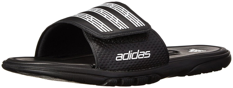 adidas Men's adiLight Slide SC Sandal three band buckled slide sandal navy blue