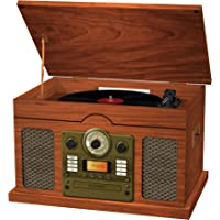 Sylvania Nostalgic 7 in 1 Wooden Turntable