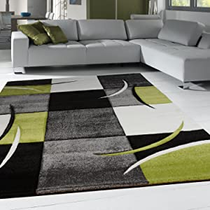 Modern Diva Rug Hand Finished Black / Cream / Green 200x290       reviews and more information