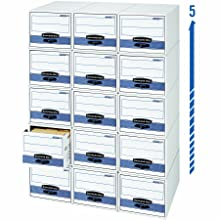Bankers Box Stor/Drawer Steel Plus Storage Drawers,  Letter, 6 Pack (00311)
