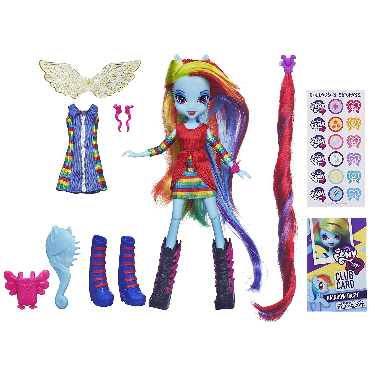 My little pony equestria girls rainbow dash deluxe doll with