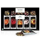 Tea Forté NOIR Single Steeps Organic Loose Leaf Tea Sampler, 15 Single Serve Pouches - Bold Black Tea Varieties