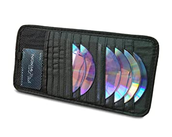Amazon.com: Quick Access CD Visor Organizer For Car - 12 Pocket CD ...