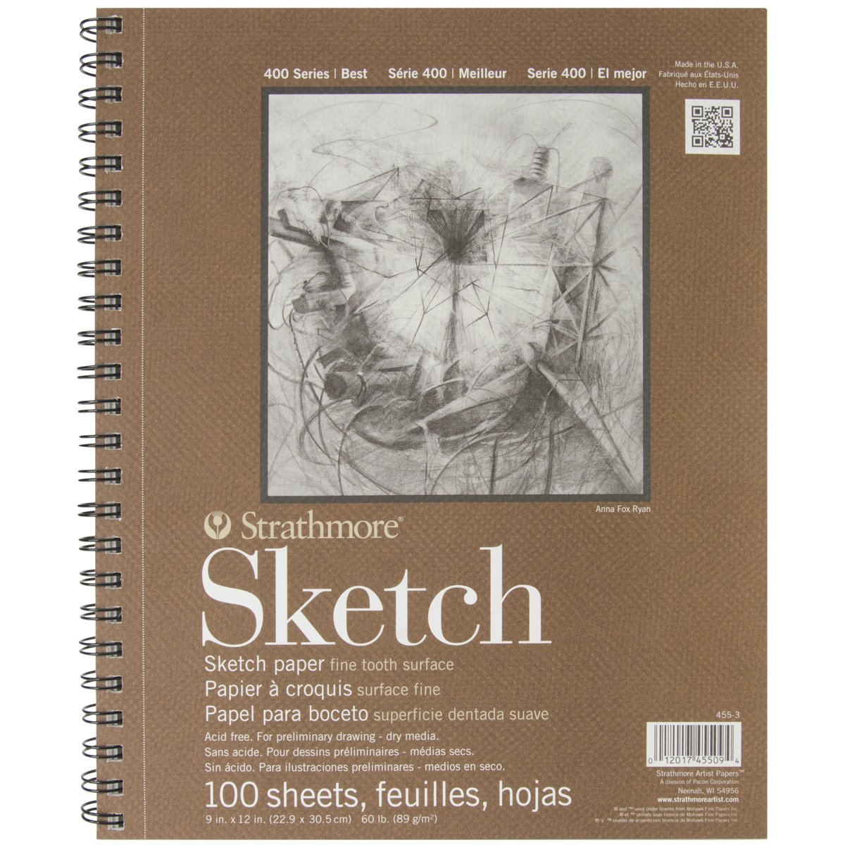 Strathmore Series 400 Sketch Pads 9 in. x 12 in. – pad of 100