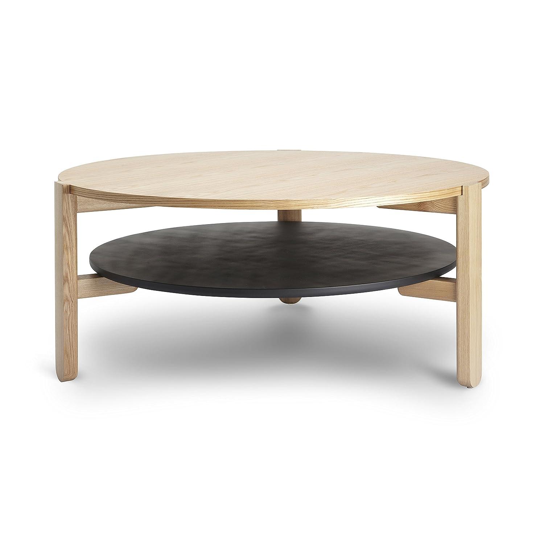Umbra 320300-045 Furniture Hub Kaffeetisch, Couchtisch, Beistelltisch, Wohnzimmertisch, Tisch, Eschenholz, Lackiertes Verbundholz, schwarz / natur günstig