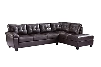 Glory Furniture G905B-SC Sectional Sofa, Cappuccino, 2 Boxes