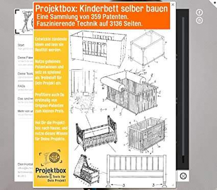 kinderbett selber bauen deine projektbox inkl 359 original. Black Bedroom Furniture Sets. Home Design Ideas