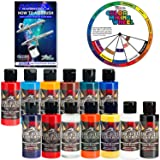 TOP 12 Createx Wicked Airbrush Paint Colors and Reducer with the Master How to Airbrush Book and Color Wheel