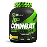 MusclePharm Combat Protein Powder - Essential blend of Whey, Isolate, Casein and Egg Protein with BCAA's and Glutamine for Recovery, Banana Cream, 4 Pound, 54 Servings (Color: White, Tamaño: 4 lb.)