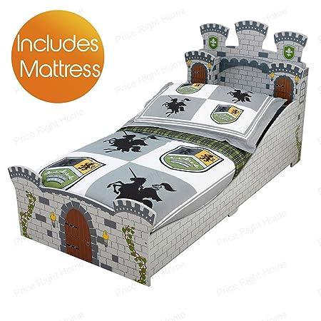 KidKraft Medieval Castle Junior Toddler Bed Plus Foam Mattress