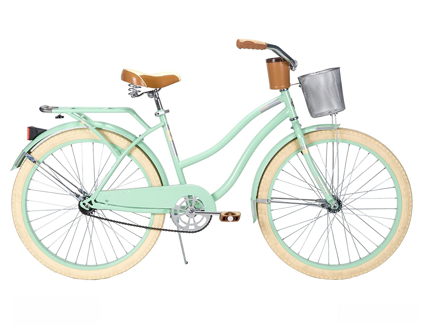 Bikes With Baskets For Women Huffy Women s Deluxe Cruiser