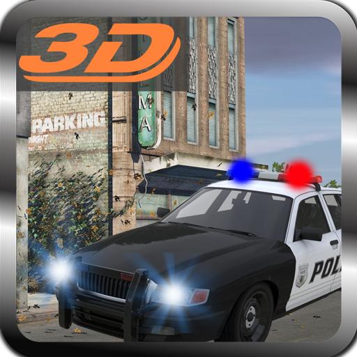 police-target-prisoner-car-3d