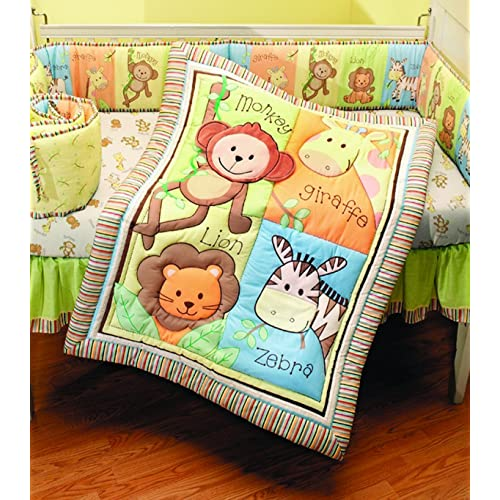 Summer Infant 4 Piece Monkey Jungle Collection Crib Set Neutral