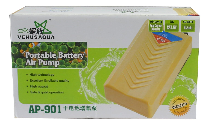Fish aquarium in nagpur - Venus Aqua Ap 901 Portable Battery Aquarium Air Pump Output 2 L
