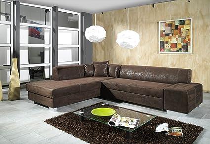Sofa Couchgarnitur Couch Sofagarnitur OSCAR mit Schlaffunktion U Polstergarnitur Polsterecke Wohnlandschaft mit Schlaffunktion