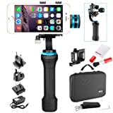 Neewer 3-Axis Brushless Motorized Handheld Gimbal Stabilizer and Cleaning Kit for GoPro Hero 3+/4 and Smartphones (2.2-3.6 inches Width) Such as iPhone 7/7plus/6s/6s Plus,Samsung Galaxy S6 (NWHG-01) (Color: black, Tamaño: 13.4 x 9.8 x 3.7 inches)
