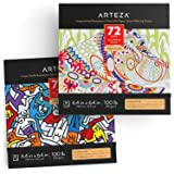 Arteza Coloring Books for Adults, Animal & Doodle Designs, 2-Pack, 144 Sheets Total, 100 lb, 6.4x6.4 Inches, for Anxiety, Stress Relief & Relaxing, Detachable Pages (Color: Multicolor, Tamaño: 6.4x6.4 Inches)