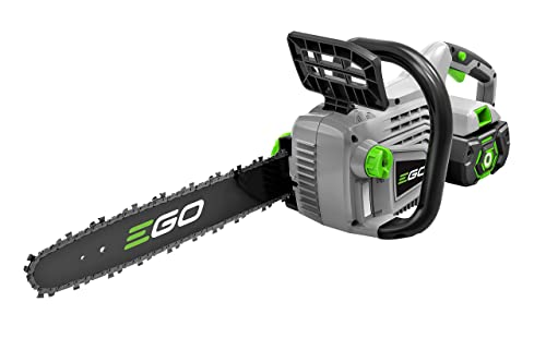 7. EGO Power+ 14-Inch 56-Volt Lithium-Ion Cordless Chain Saw - 2.0Ah Battery and Charger Kit
