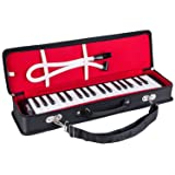 Mugig Melodica 37 Key, Wide Range F-F3,More Tunes Available, Easy to Control, Suitable for Teaching, Performance, Piano Enlightenment (Color: black and white)