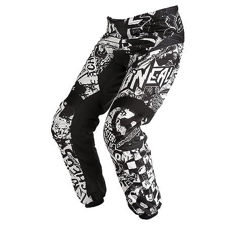 O'Neal élément Pantalon De Motocross SAUVAGE Schwarz Blanc MX DH FR, 0124W-8