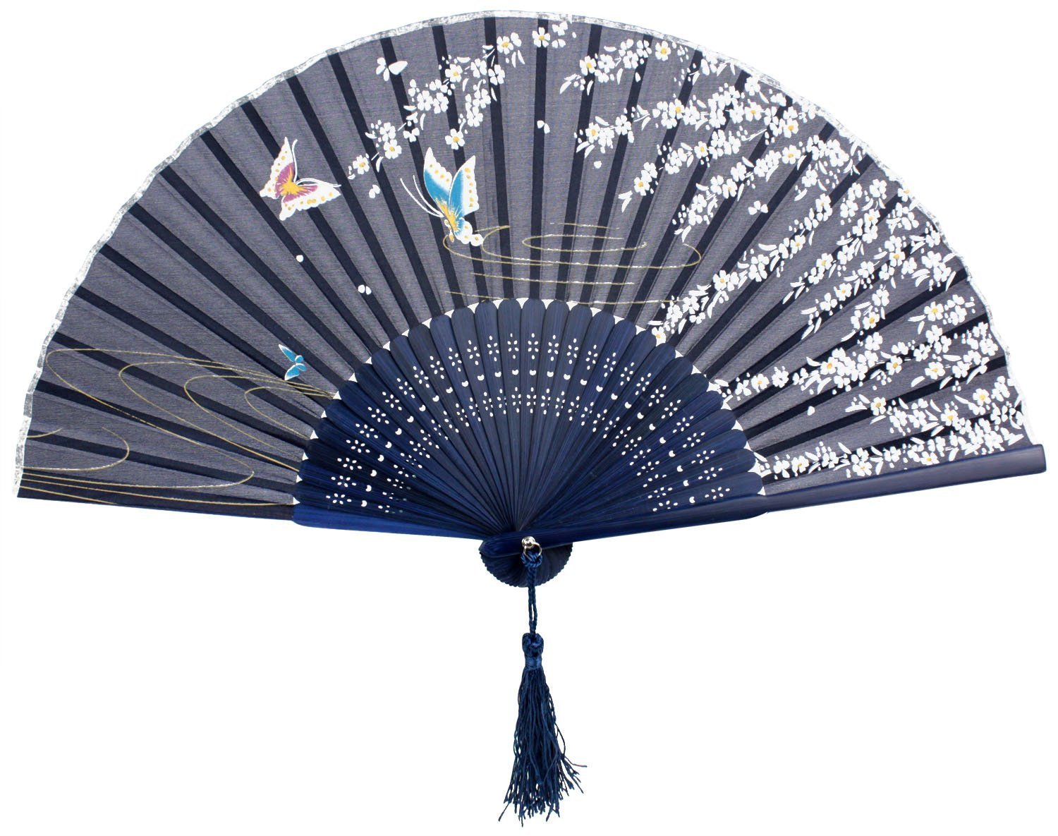 Japanese Design Silk Handheld Folding Fan
