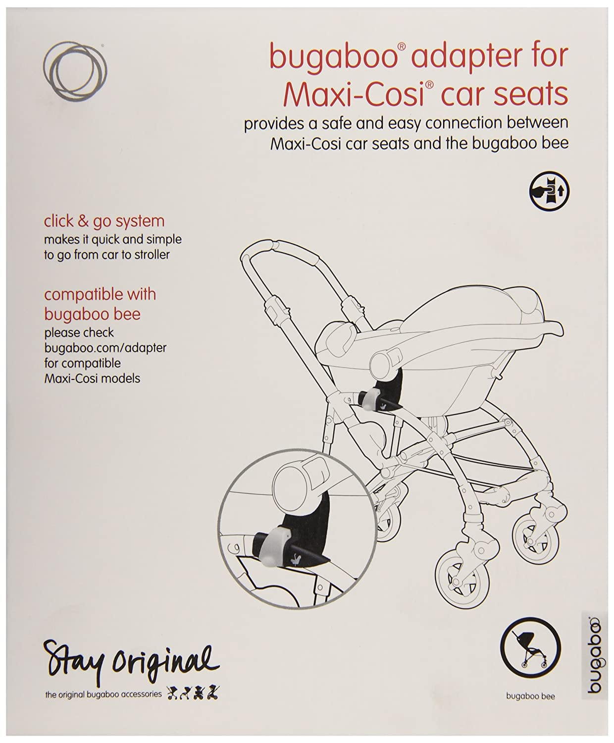 bugaboo bee car seat adapter maxi cosi new free shipping. Black Bedroom Furniture Sets. Home Design Ideas