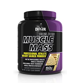 Cutler Nutrition 100% Pure Muscle Mass Professional Athlete Weight Gainer Powder, Vanilla Cookie, 5.8-Pound