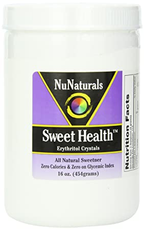 Отзывы NuNaturals Sweet Health Erythritol Crystals Powder, 16 Ounce
