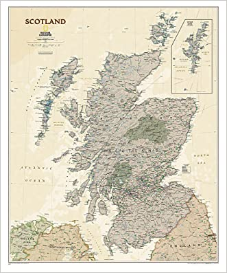 Scotland Executive [Tubed] (National Geographic Reference Map)
