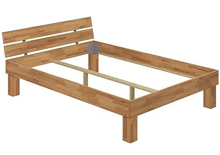 Telaio letto 140x220 Faggio Eco, ANCHE per ANZIANI senza doghe e materasso 60.81-14-220 oR