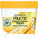 Garnier Fructis Strengthening Treat 1 Minute Hair Mask, 3.4 fl. oz. (Color: Banana, Tamaño: 3.4 fl oz)